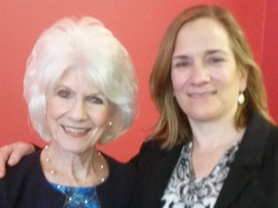 Diane Rehm with Tracy Chevalier