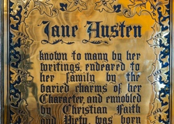 Jane Austen plaque Winchester Cathedral