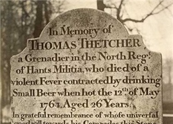 Grave of Thomas Thetcher, Winchester Cathedral